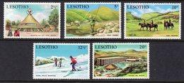 LESOTHO - 1970 TOURISM SET (5V) FINE MOUNTED MINT MM * SG 186-190 - Lesotho (1966-...)