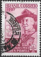 BRAZIL 1957 Air. Birth Centenary Of Lord Baden-Powell - 3cr30 Lord Baden-Powell FU - Luftpost