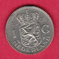 NETHERLANDS   1 GULDEN (fish) 1969 (KM # 184a) #5367 - [ 3] 1815-… : Kingdom Of The Netherlands
