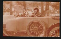 CARTE PHOTO  FOTOKAART  JOLIE FEMME  MOOIE VROUW  AUTO - Anges