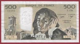 """500 Francs """"Pascal"""" Du 06/01/1983.M----VF/SUP-----ALPH C.178 - 1962-1997 ''Francs''"""