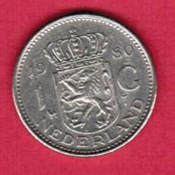 NETHERLANDS   1 GULDEN 1980 (KM # 184a) #5368 - [ 3] 1815-… : Kingdom Of The Netherlands