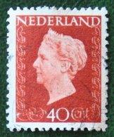 40 Ct Koningin Wilhelmina NVPH 486 (Mi 489) 1947 -1948 Gebruikt / Used NEDERLAND / NIEDERLANDE - Gebraucht