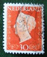30 Ct Koningin Wilhelmina NVPH 484 (Mi 487) 1947 -1948 Gebruikt / Used NEDERLAND / NIEDERLANDE - Gebraucht