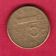 NETHERLANDS   5 GULDEN 1989 (KM # 210) #5371 - [ 3] 1815-… : Kingdom Of The Netherlands