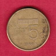 NETHERLANDS   5 GULDEN 1989 (KM # 210) #5372 - [ 3] 1815-… : Kingdom Of The Netherlands