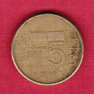NETHERLANDS   5 GULDEN 1989 (KM # 210) #5372 - [ 3] 1815-… : Koninkrijk Der Nederlanden