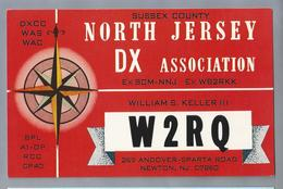 US.- QSL KAART. CARD. W2RQ. WILLIAM S. KELLER III, NEWTON, NORTH JERSEY, SUSSEX COUNTY. NJDXA. - Radio-amateur