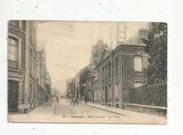 Cp ,76 , AUMALE , Rue Centrale ,la Poste ,  Voyagée - Aumale