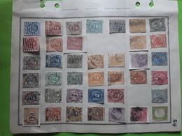 ITALIA ITALIE 1862 - 1920 Page Ancienne Album 39 Timbres Classiques Obl BONNE COTE - Used