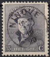 Roi Casqué - N° 169 Oblitération NINOVE - 1919-1920 Albert Met Helm