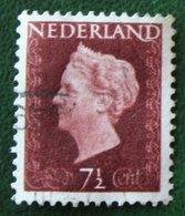 7 1/2 Ct Koningin Wilhelmina NVPH 477 (Mi 480) 1947 -1948 Gebruikt / Used NEDERLAND / NIEDERLANDE - Gebraucht