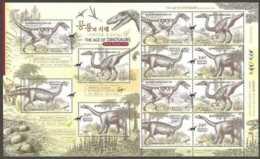 2010 S.Korea - Age Of Dinosaurus - Issue 1 - Triassic - Sheetlet - Paper -MNH** MiNr. 2780 - 2783 - Korea (Süd-)