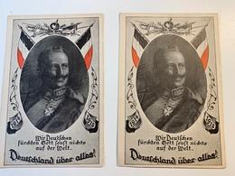 2 Cp Propagande Allemagne - Guerra 1914-18