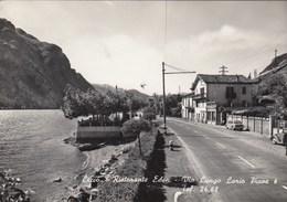LECCO-RISTORANTE=EDEN=VIA LUNGO LARIO PIAVE-CARTOLINA VERA FOTOGRAFIA-VIAGGIATA TRA IL 1955-1959 - Lecco