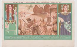 Cartolina Commemorativa Principio Secolo XX°, Illustrata - F.p. - Anno 1900 - Eventi