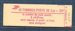 Carnet LIBERTE N° 2376-C3 ** CODE POSTAL - CONF 9 - COTE 14 € - Carnets