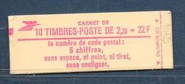 Carnet LIBERTE N° 2376-C2 ** CODE POSTAL - GB - CONF 6 - COTE 14 € - Carnets