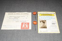 Expo 1958 ,abonnement Et Autres, Souvenir Exposition Universelle 58 Bruxelles,Grisard Nicole Artiste Peintre,Anvers. - Oggetti 'Ricordo Di'