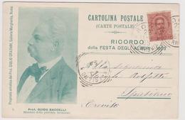 Festa Degli Alberi - 1899 - Ministro Della Pubblica Istruzione Prof. Guido Baccelli  - F.p. - Manifestazioni