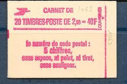 Carnet LIBERTE N° 2274-C4 ** CODE POSTAL - GB - CONF 8 - COTE 20 € - Carnets