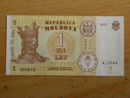 MOLDAVIE MOLDOVA BILLET 1 LEU 2015 TRES BON ETAT - Moldavie