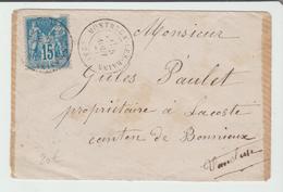 """DROME: """" MONBRUN LES BAINS """" CàD Type 17 / LSC De 1880 Pour Bonnieux B/TB - Marcophilie (Lettres)"""