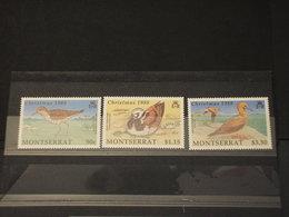 MONTSERRAT - 1988 NATALE/UCCELLI 3  VALORI - NUOVI(++) - Montserrat