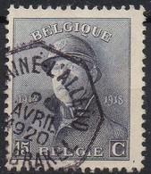 Roi Casqué - N° 169 Oblitération Télégraphique BRAINE L'ALLEUD / EIGEN-BRAKEL - 1919-1920  Re Con Casco