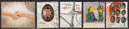 2017: Polen Mi.Nr. 4897, 4903, 4939, 4959 + 4969 Gest. (d334) / Pologne Y&T No. ? Obl. - Used Stamps