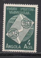 1949 Yvert Nº 322  MNH, 75º Aniversario De La U.P.U. - Angola