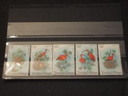 TRINIDAD TOBAGO - 1980  UCCELLI  5  VALORI - NUOVI(++) - Trindad & Tobago (1962-...)
