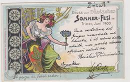 Sommer-Fest In Trieste, Giugno 1900,  Jugendstil - Art Nouveau  - F.p. - Manifestazioni