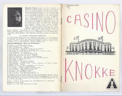 1965 CASINO KNOKKE - RENE MAGRITTE MARLENE DIETRICH NAT KING COLE BESCHADIGING ARCHITECTUUR TIJDENS DE OORLOG ... - Dépliants Touristiques
