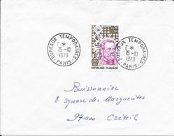 SEINE 75  -    PARIS -  BUREAU TEMPORAIRE      -  CACHET RECETTE R A9   -  1973   - TIMBRE N° 1768 - TARIF 4 1 71 - - Postmark Collection (Covers)