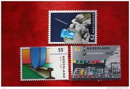 150 Jaar Spoorwegen NVPH 1430-1432 (Mi 1366-1368); 1989 POSTFRIS / MNH ** NEDERLAND / NIEDERLANDE - 1980-... (Beatrix)