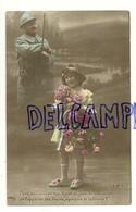 Photographie Montage. Petite Fille Et Roses. Soldat . Pour Couronner ... JK. Visé à Paris - Patriottisch