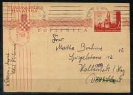 4912 - KROATIEN - Bedarsmäßig Verwendete Ganzsache P4 Mit Zensur Nach Halberstadt - Kroatien