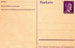 * ALLEMAGNE * Postkarte Cartes Avec Timbre Imprimé Deustsches Reich - Germany