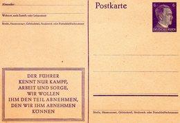 * ALLEMAGNE * Postkarte Cartes Avec Timbre Imprimé Deustsches Reich - Deutschland