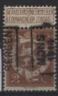 PREOS Roulette -  MONS 1914 BERGEN (position A). Cat. 2367 Cote 450. - Precancels