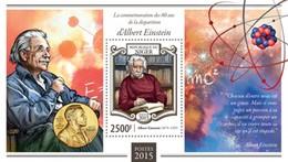 Niger 2015. [nig15103] Albert Einstein (s\s+block) - Albert Einstein