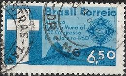 BRAZIL 1960 Air. 10th Baptist World Alliance Congress, Rio De Janeiro - 6cr50 Congress Emblem, Sugar-loaf Mountain  FU - Brasilien