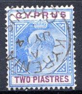 Ile De CHYPRE - (Colonie Britannique) - 1903 - N° 37 - 2 Pi. Bleu Et Lilas - (Edouard VII) - Cyprus (...-1960)