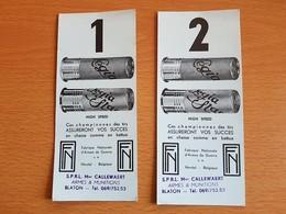BLATON Fabrique Nationale De HERSTAL  Plus CALLEWARERT ARMES & MUNITIONS BLATON - Publicités