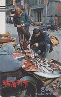 Télécarte Ancienne Japon / NTT 310-020 - Marché Aux Poissons - Fish Market Japan Front Bar Phonecard - Balken TK - Japón