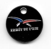 Jeton De Caddie  Fond  Noir  Militaire  ARMÉE  DE  L' AIR - Einkaufswagen-Chips (EKW)