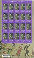 BRAZIL 2017 - 01 Mini Sheet With 20 Stamps - VIOLETA PARRA MUSIC DANCE GUITAR - New Mint (GN 0373) - Brasilien