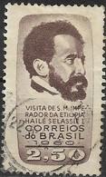 BRAZIL 1961 Visit Of Emperor Of Ethiopia - 2cr50 Emperor Haile Selassie FU - Brasilien