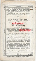 Doodsprentje Theresia De Vylder Lokeren En Aldaar Overleden 1846 Van Kerckhove   Bidprentje - Devotieprenten